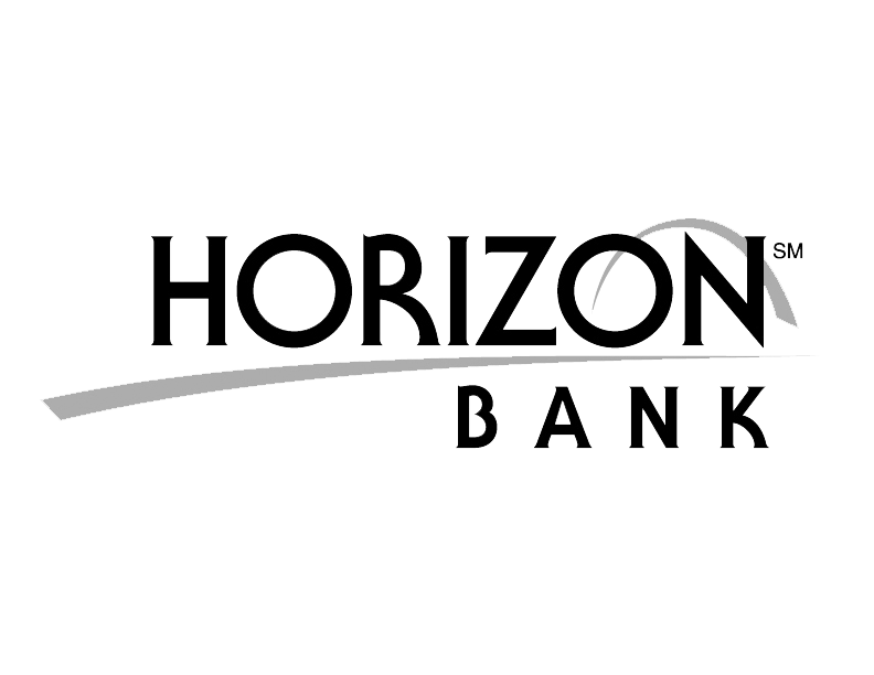 Horizon Bank logo BW